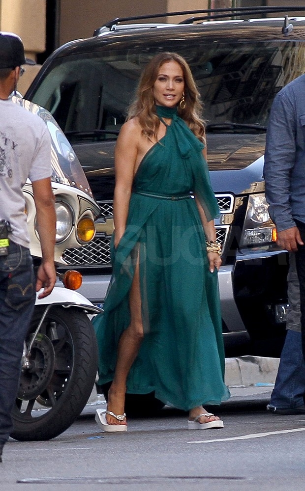 Jennifer Lopez Has Everything Under Control at Her Glamorous Video Shoot