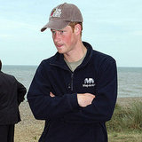 Prince Harry was deep in conversation at today's rowing exhibition in Sizewell, England.