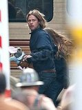 Brad Pitt Gets Explosive in Glasgow and Is Confirmed For Toronto