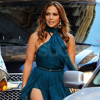 Jennifer Lopez in a Gown Shooting Music Video Pictures