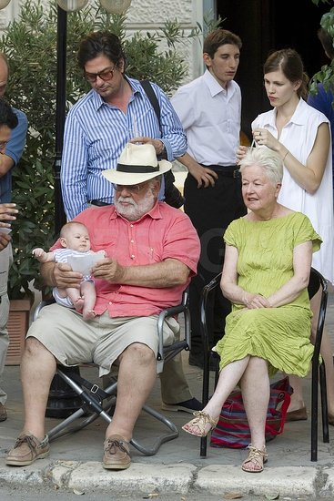 Francis Ford Coppola, Eleanor Coppola, and Roman Coppola are in Italy for Sofia Coppola's wedding.
