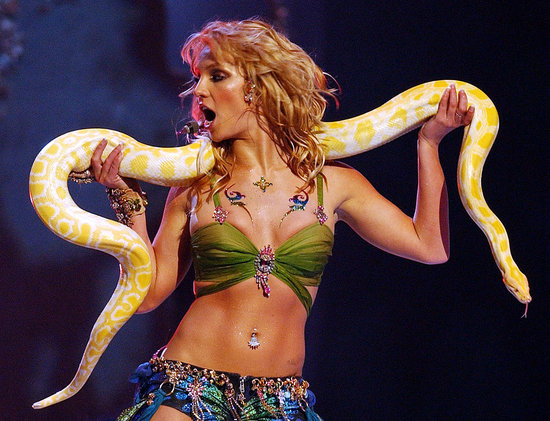 Britney Hangs With a Python