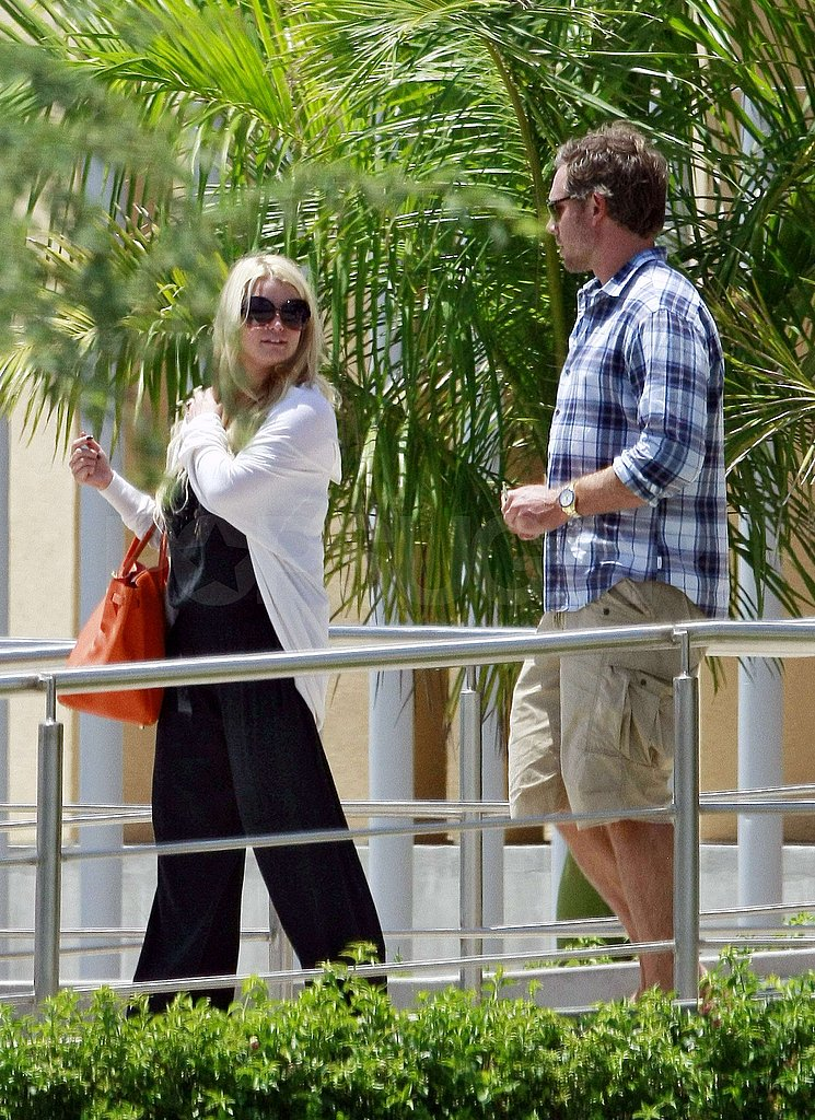 Jessica Simpson had her Birkin bag and Eric Johnson by her side.