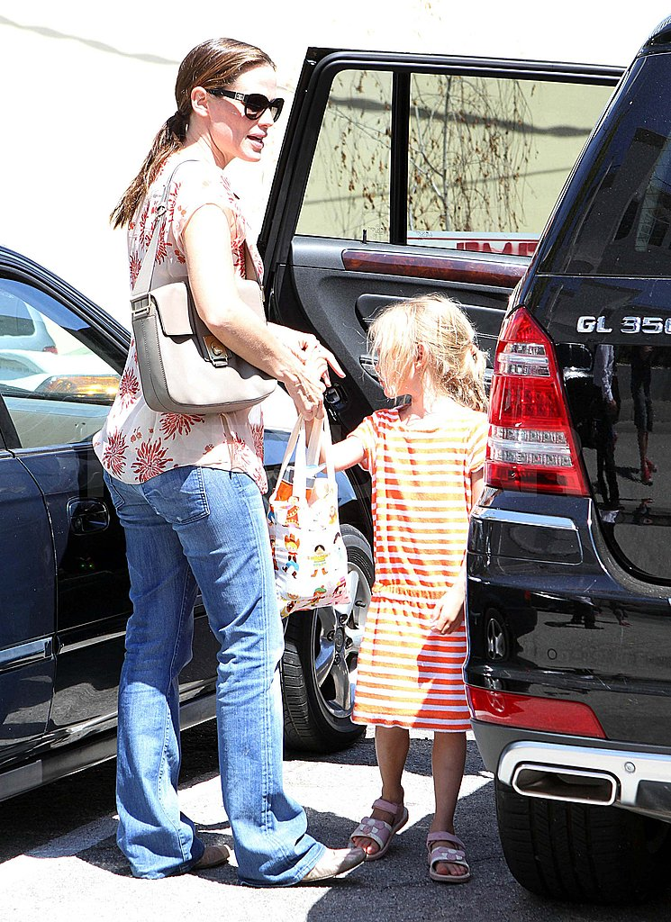 Jennifer Garner and Violet in LA.