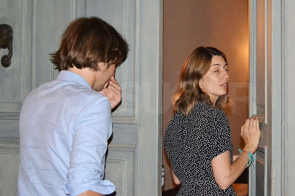 Thomas Mars was close by Sofia Coppola as they headed indoors.