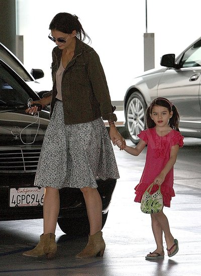 Katie Steps Out With Suri and a Henna Tattoo as Her Scary Movie Hits Theaters