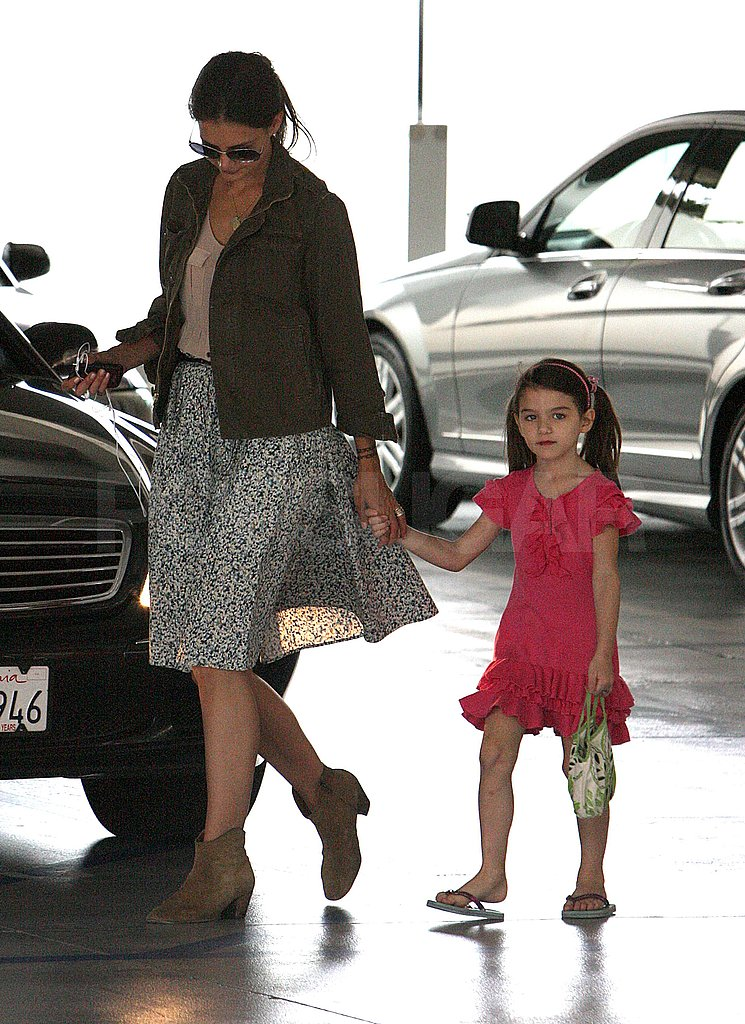 Katie Holmes and Suri Cruise ran errands in Beverly Hills.