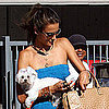 Alessandra Ambrosio With Her Dog in LA