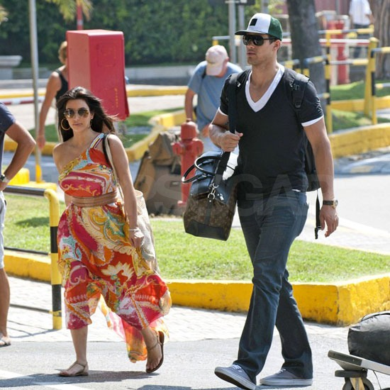 Kim Kradashian and Kris Humphries wrapped up their romantic three-day stay in Italy.