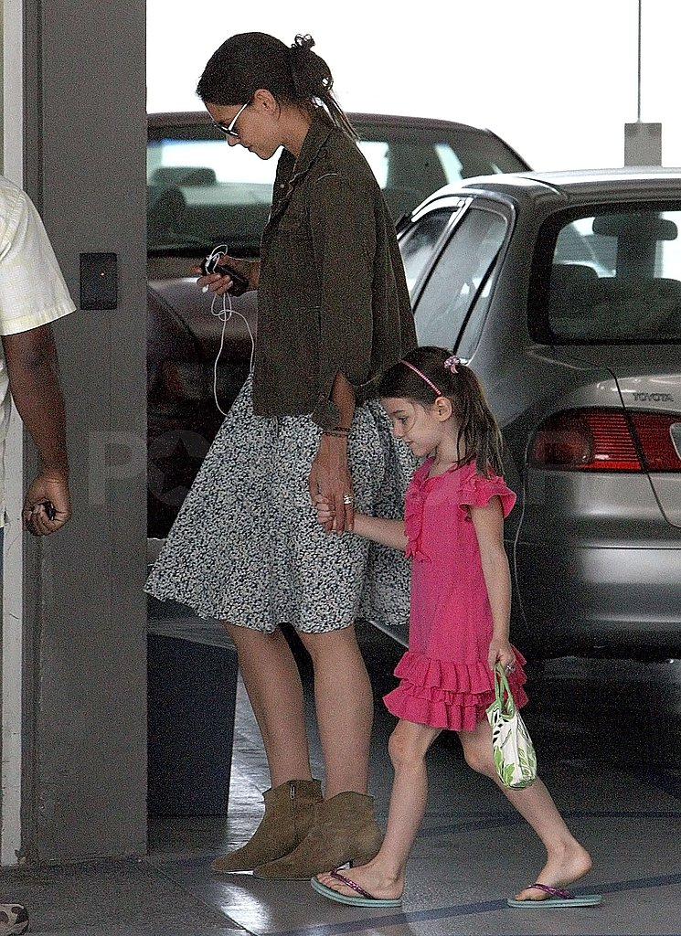 Katie Holmes and Suri Cruise held hands.