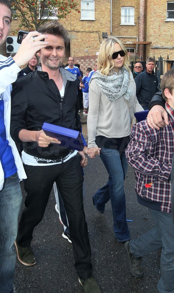 Matthew Bellamy brought Kate and Ryder to the London soccer match.