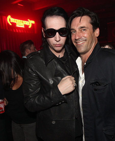 Jon Hamm palled around with Marilyn Manson.