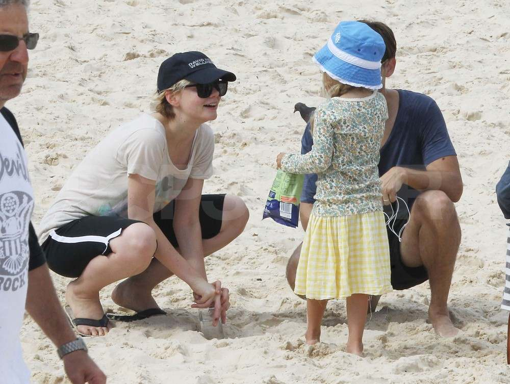 Carey Mulligan with Tobey Maguire's kids.