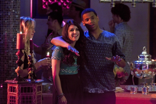 Shenae Grimes as Annie and Tristan Wilds as Dixon on 90210.  Photo courtesy of The CW