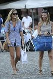 Bar Refaeli strolled with a friend.
