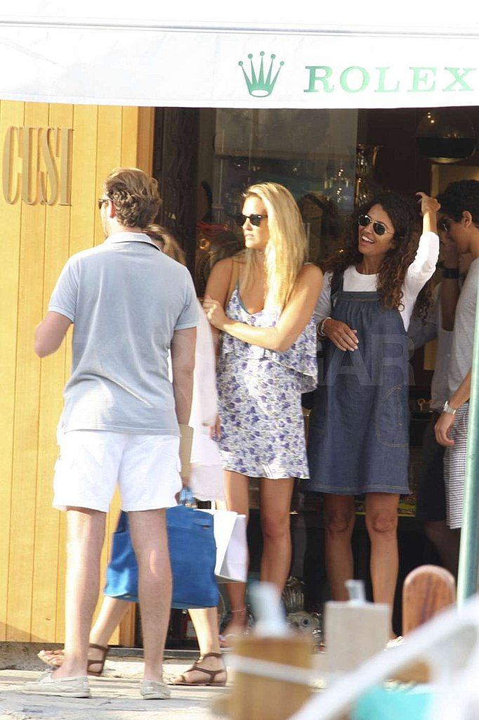 Bar Refaeli sported a sundress.