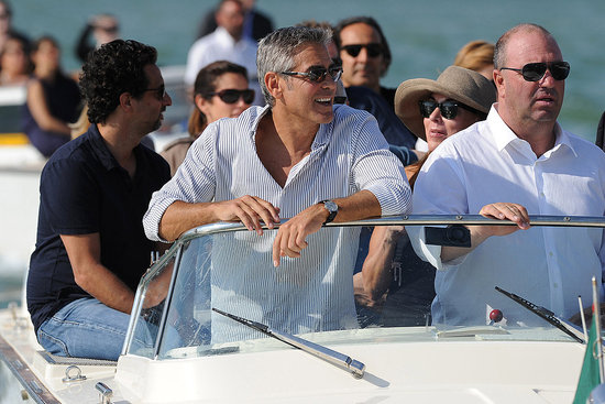 George Clooney arrives for the Venice Film Festival.