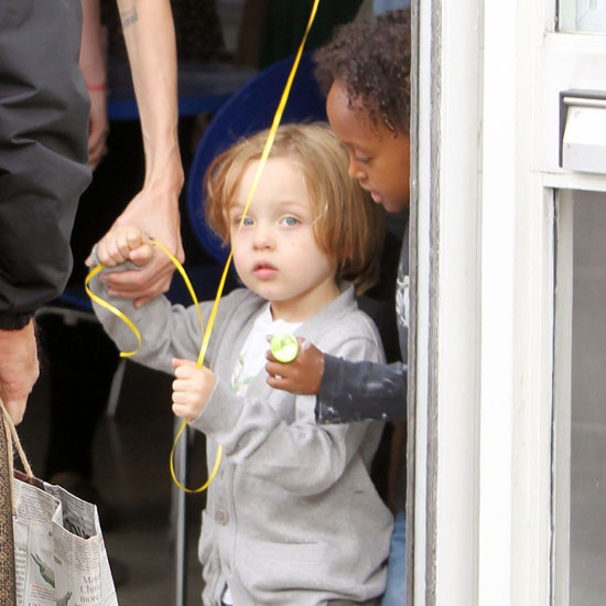 Zahara Jolie-Pitt talked to her brother Knox.