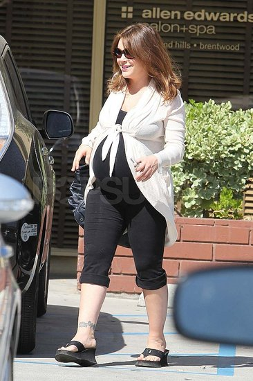 Alyssa Milano left a spa in LA.