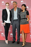 Marisa Tomei, George Clooney, Evan Rachel Wood at the Venice Film Festival.
