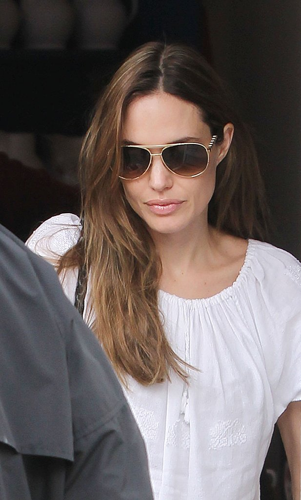 Angelina Jolie wore sunglasses in London.