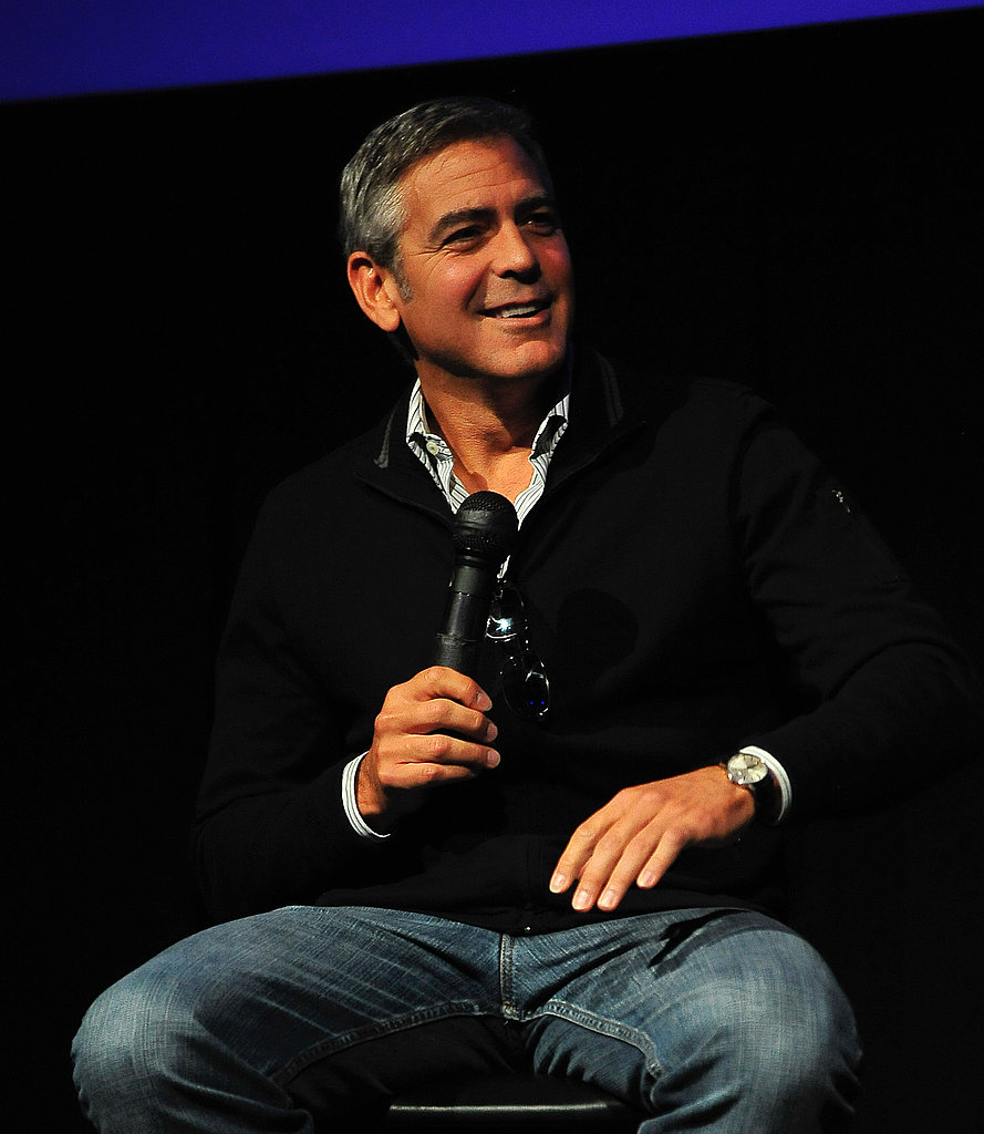 George Clooney promotes The Descendants.