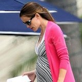 Jennifer Garner pregnant in Santa Monica.