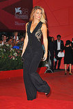 Bar Refaeli wears a pantsuit on the red carpet.