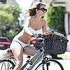 AnnaLynne McCord Riding a Bike in a Bikini in LA Pictures