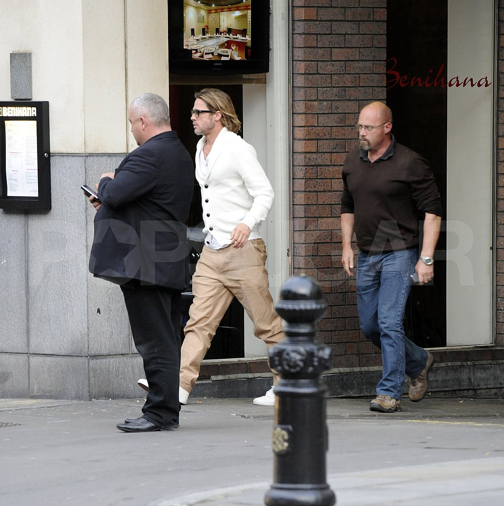 Brad Pitt outside London's Benihana.