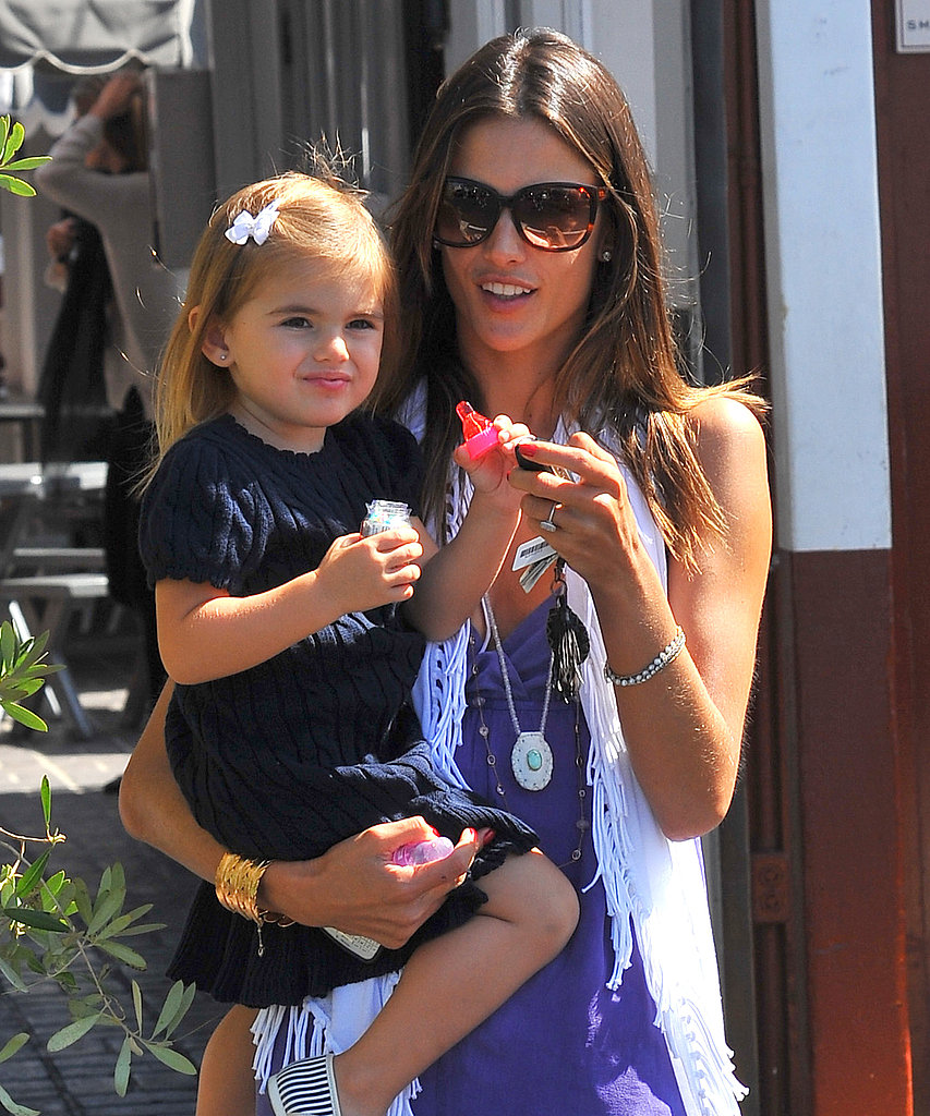 Alessandra Ambrosio and Anja at the Brentwood Country Mart.