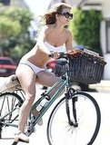 AnnaLynne cruised in LA on her bike.