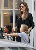 Angelina Jolie Takes Shiloh and Zahara to Shop Following Their London Eye Adventure