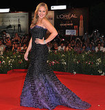 Abbie Cornish was stunning in a strapless gown on the red carpet.