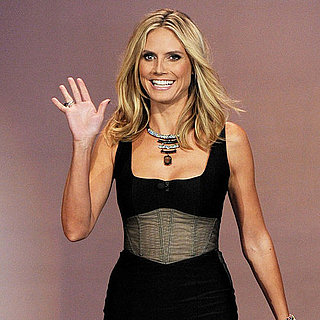 Heidi Klum in a Corset Dress on The Tonight Show Pictures