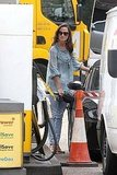 Pippa Middleton at a gas station.