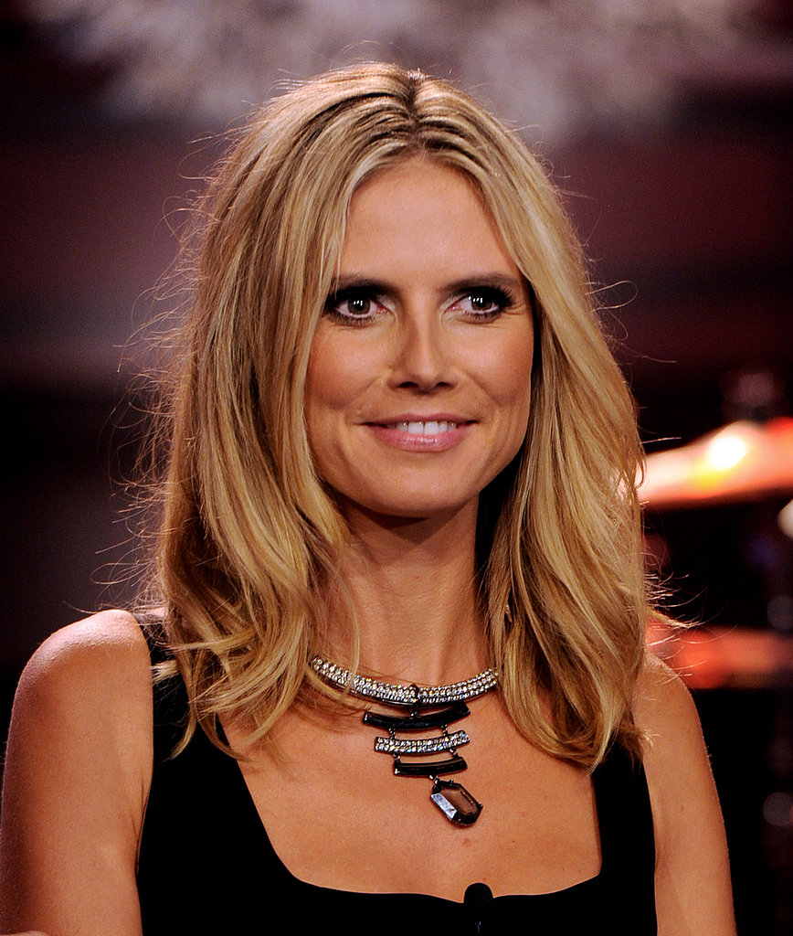 Heidi Klum flashed a smile.