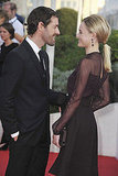 Michael Polish put his hand on Kate Bosworth's arm as they arrived to the event.