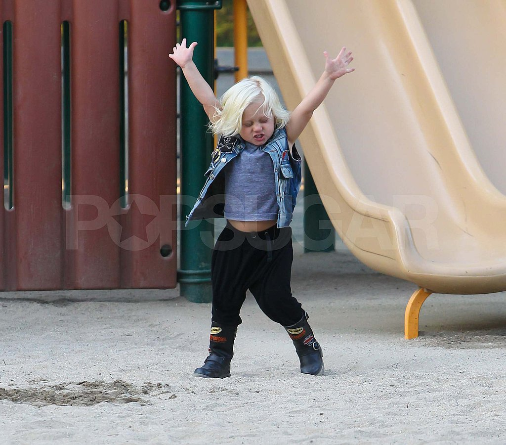 Zuma Rossdale at the park in LA.