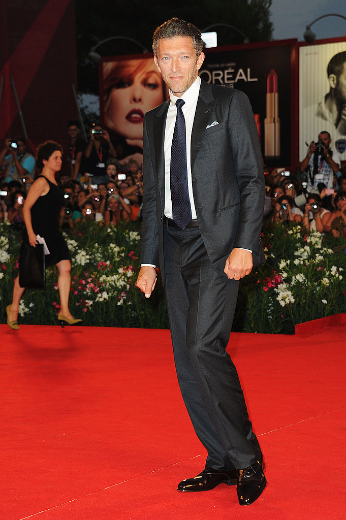 Vincent Cassel on the red carpet.