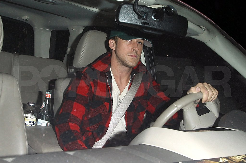 Ryan Gosling driving in LA.