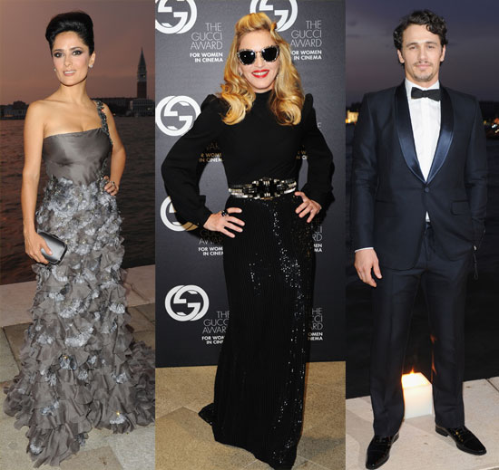 Salma, James, and Madonna Toast Gucci and Female Filmmakers in Venice