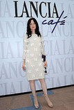 Andrea Riseborough opted for a more casual look at the Lancia Cafe.