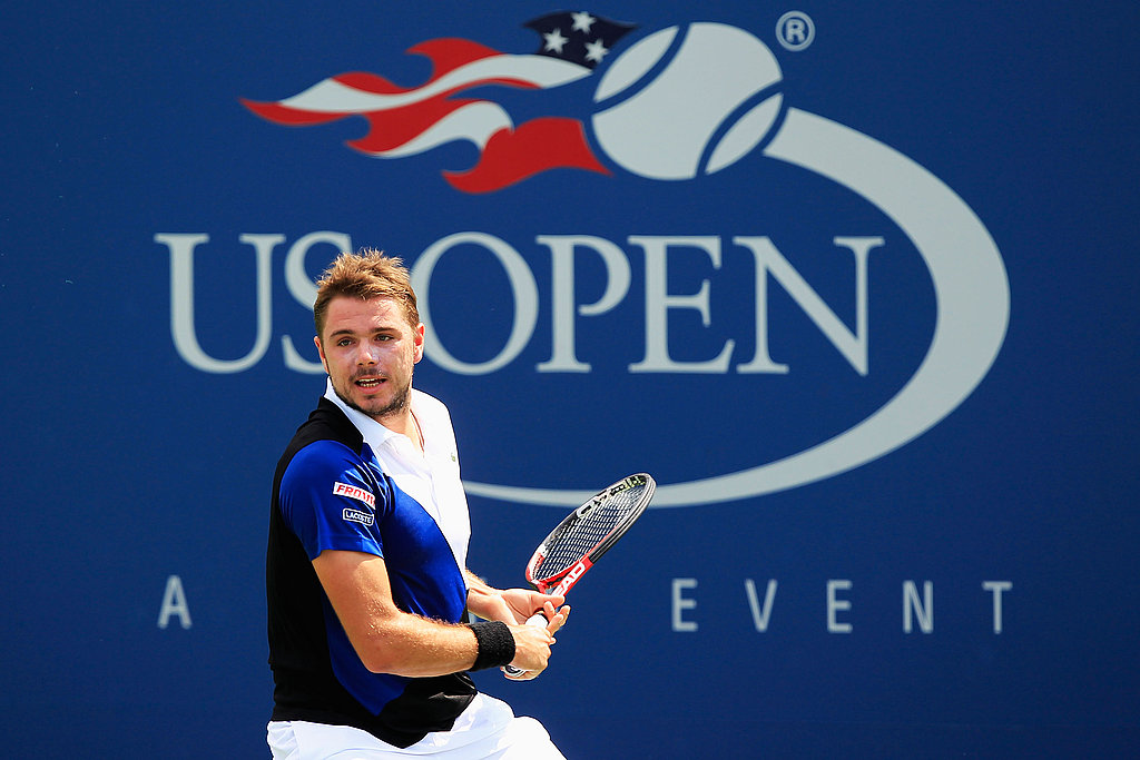 Stanislas Wawrinka of Switzerland returns a shot on Friday.