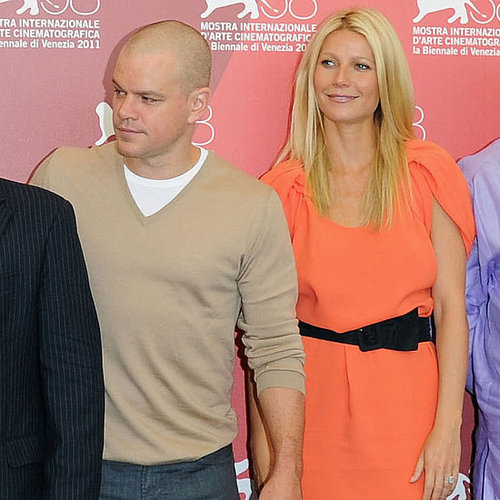 Gwyneth Paltrow and Matt Damon Pictures at Contagion Venice Photo Call