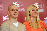 Gwyneth Paltrow with Contagion costar Matt Damon.