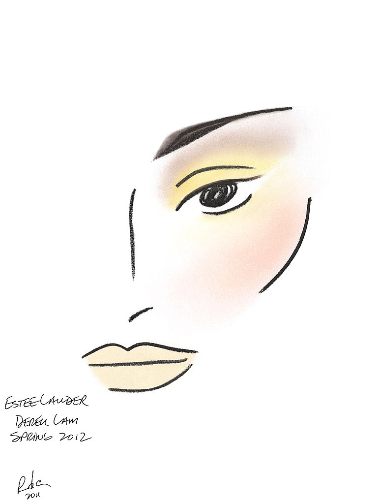 The face chart at Derek Lam.