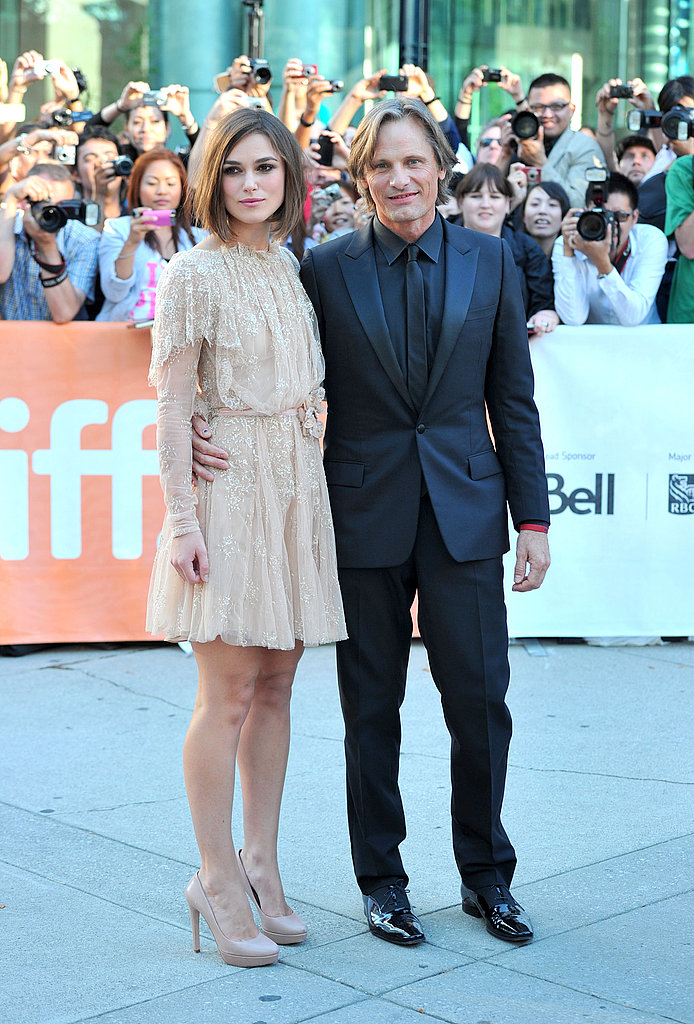 Keira Knightley premieres with Viggo Mortensen.