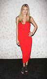 Doutzen Kroes made a standout appearance in red at Barneys New York fete in honor of Carine Roitfeld.