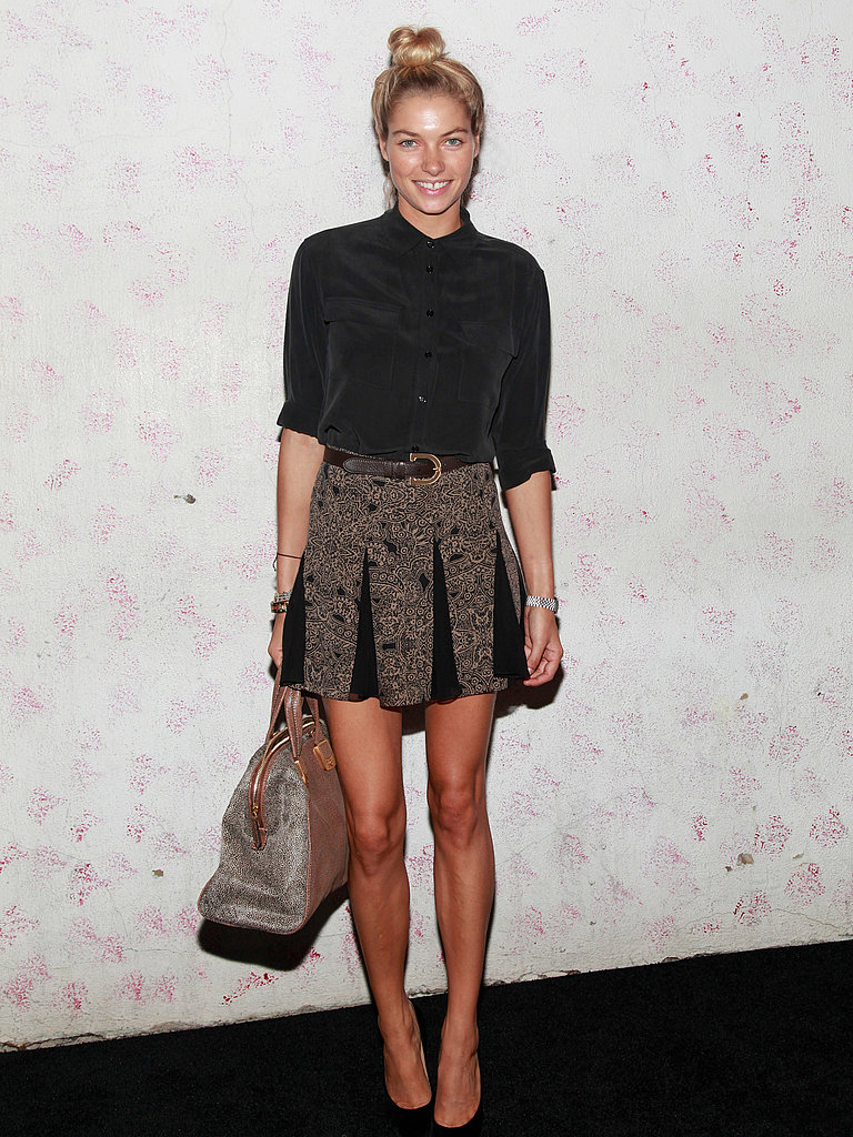 Jessica Hart took the preppy, pulled-together route at Carine's Barneys bash.
